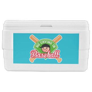 No Crying in Baseball - Cute Kid Bats Diamond Chest Cooler