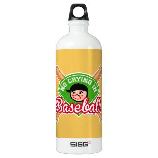 No Crying in Baseball - Cute Kid Bats Diamond SIGG Traveler 1.0L Water Bottle