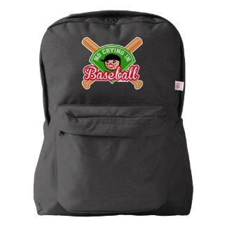 No Crying in Baseball - Cute Kid Crossed Bats Backpack