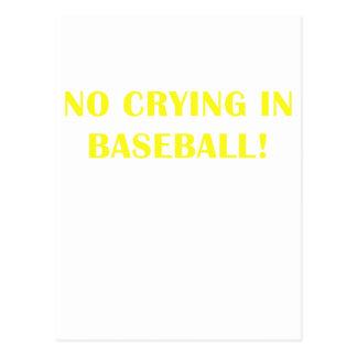 No Crying in Baseball Postcard