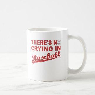 No Crying In Baseball (wine-red) Coffee Mug