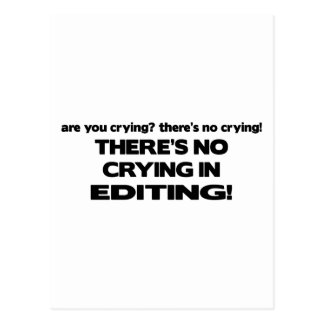 No Crying in Editing Postcard