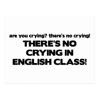 No Crying in English Class Postcard