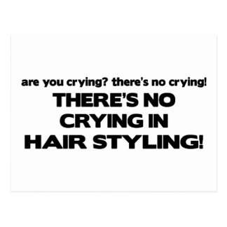 No Crying in Hair Styling Postcard