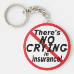 No Crying In Insurance.png Basic Round Button Keychain