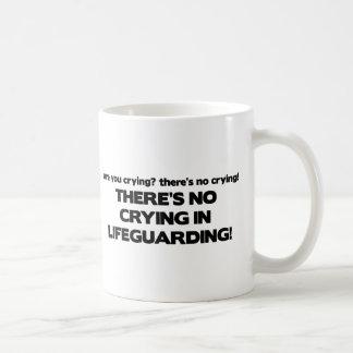 No Crying in Lifeguarding Classic White Coffee Mug