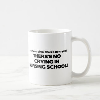 No Crying in Nursing School Classic White Coffee Mug