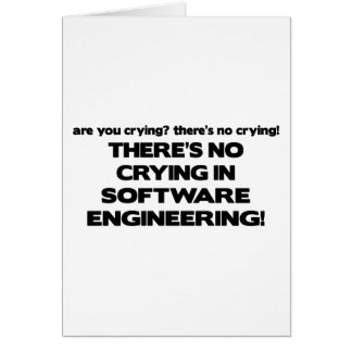 No Crying in Software Engineering Card