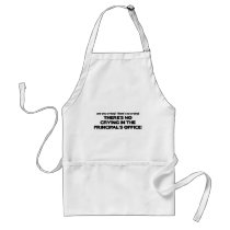 No Crying in the Principal's Office Adult Apron