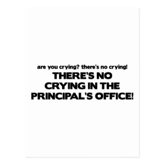 No Crying in the Principal's Office Postcard