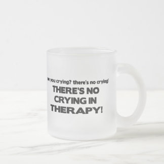 No Crying in Therapy Frosted Glass Coffee Mug