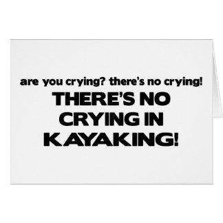 No Crying - Kayaking Card
