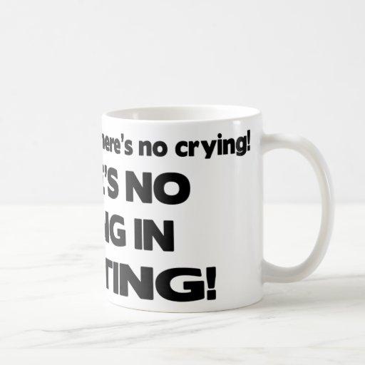No Crying - Knitting Classic White Coffee Mug