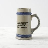 No Crying - Knitting Coffee Mugs