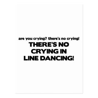No Crying - Line Dancing Postcard