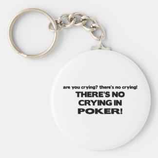No Crying - Poker Keychain