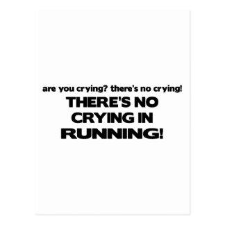 No Crying - Running Postcard
