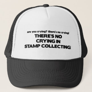 No Crying - Stamp Collecting Trucker Hat