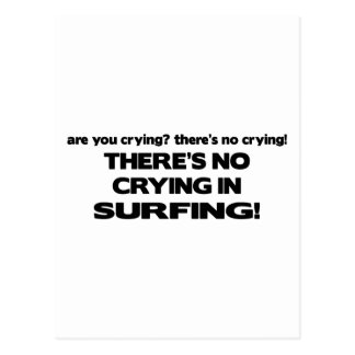 No Crying - Surfing Postcard
