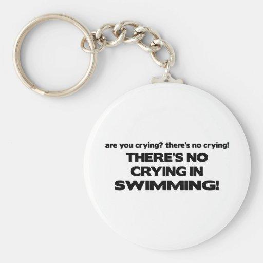 No Crying - Swimming Key Chain