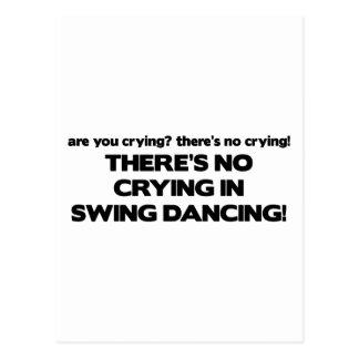 No Crying - Swing Dancing Postcard