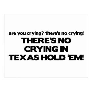 No Crying - Texas Hold 'Em Postcard