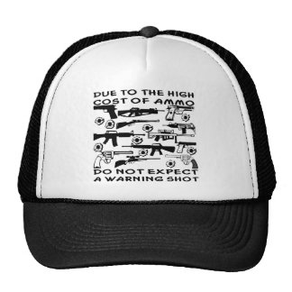 No cuente con un disparo de advertencia gorras