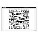 No cuente con un disparo de advertencia calcomanías para 43,2cm portátiles