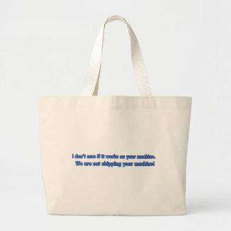 No cuide si trabaja en su máquina bolsa de tela grande