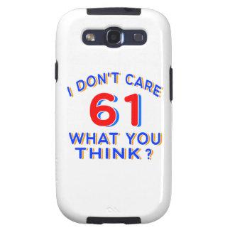 ¿No cuido 61 qué usted piensa?? Galaxy SIII Cárcasas