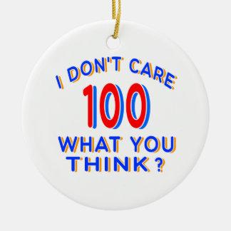 No cuido el cumpleaños 100 ornamento para reyes magos