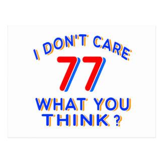 No cuido el cumpleaños 77 postales