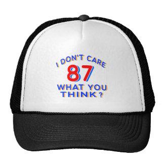 No cuido el cumpleaños 87 gorro