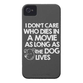 No cuido quién muere en una película mientras lo iPhone 4 cárcasa