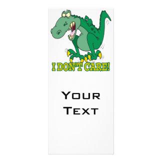 no cuido rabieta del genio del t-rex diseño de tarjeta publicitaria