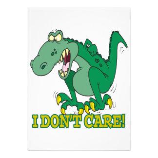 no cuido rabieta del genio del t-rex invitación personalizada