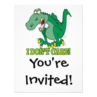 no cuido rabieta del genio del t-rex invitacion personal