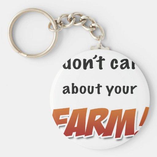 ¡No cuido sobre su granja! Llavero Redondo Tipo Pin