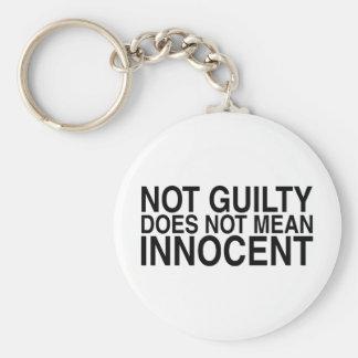 No culpable no significa al Innocent Llavero Redondo Tipo Pin
