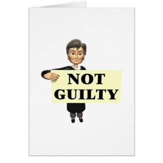 No culpable tarjetón