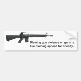 No culpe los armas pegatina para auto
