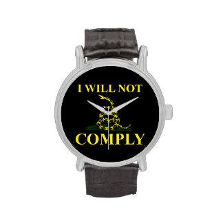 ¡No cumpliré! Reloj