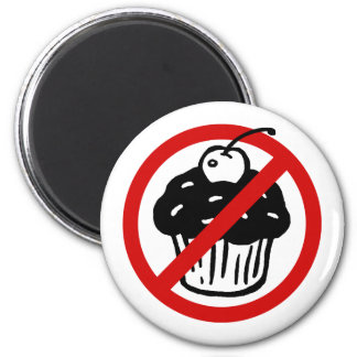 No Cupcakes 2 Inch Round Magnet