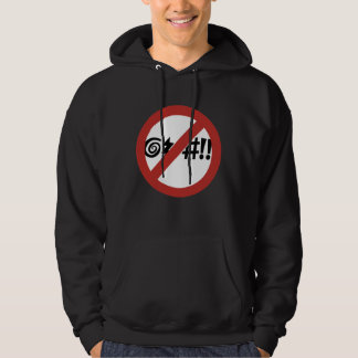 No Cursing Allowed, Sign, Virginia, US Hoodie