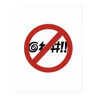 No Cursing Allowed, Sign, Virginia, US Postcard