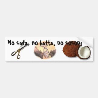 No Cuts! Bumper Sticker