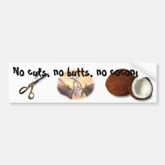 No Cuts! Car Bumper Sticker