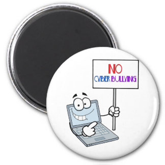 No Cyber Bullying Computer 2 Inch Round Magnet
