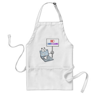No Cyber Bullying Computer Adult Apron