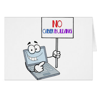 No Cyber Bullying Computer Card